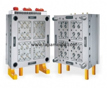 16 cavities filp top cap mould